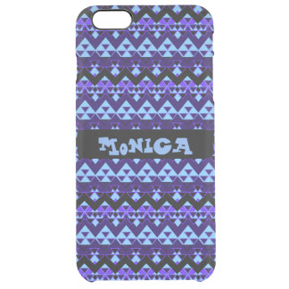 Custom Tribal Inspired Blue Geometric Pattern
