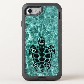 Custom Tribal Sea Turtle Aqua Blue OtterBox Defender iPhone 8/7 Case