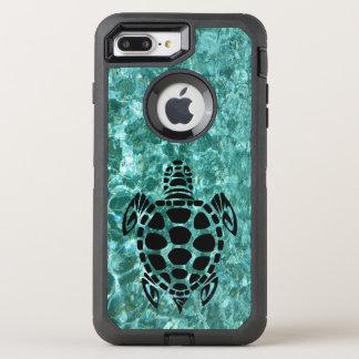 Custom Tribal Sea Turtle Aqua Blue OtterBox Defender iPhone 8 Plus/7 Plus Case