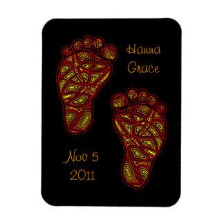 Custom Tribal Toes Baby Feet Rectangular Photo Magnet