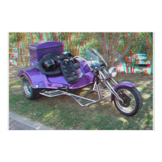 Custom Trike 3D Anaglyph Photo Poster