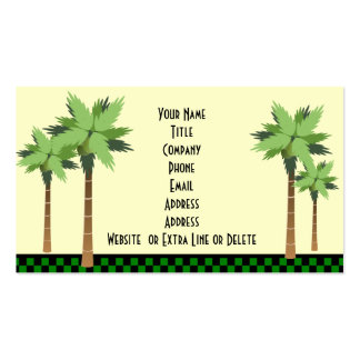 Custom Tropical Island Palm Tree Ocean Beach Theme Pack Of Standard Business Cards