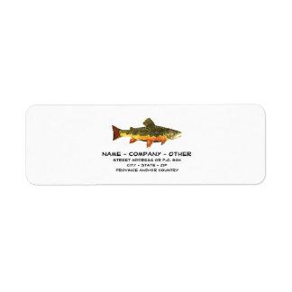 Custom Trout Fisherman's Return Address Label