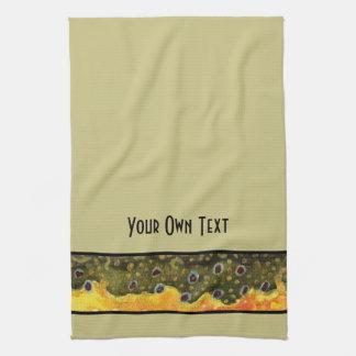 Custom Trout Fly Fishing Angler's Tea Towel