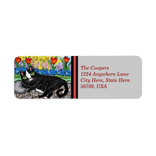 Custom Tuxedo Cat Return Address Labels