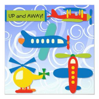 Custom Up and Away Airplane Birthday Invites