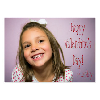 Custom Valentine for Kids With Word Search Pack Of Chubby Business Cards