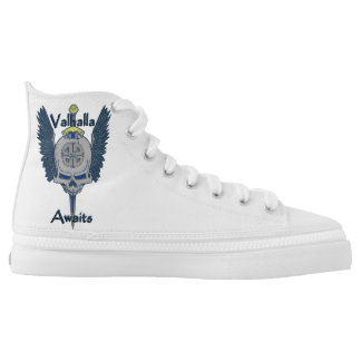 Custom Valhalla Skull High Top Shoes Printed Shoes
