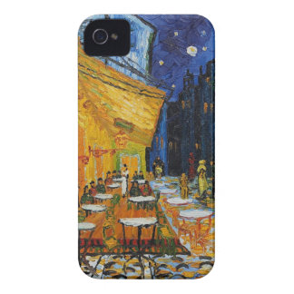 Custom Van Gogh Cafe Terrace Vintage Fine Art iPhone 4 Case-Mate Cases