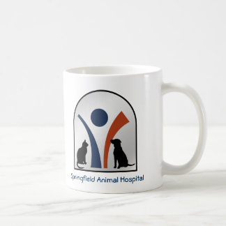 Custom Veterinary Animal Logo with Cat and Dog Coffee Mug