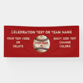 Custom Vintage Baseball Banner, Your Text, Colours Banner