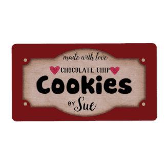Custom Vintage Chocolate Chip Cookie Labels