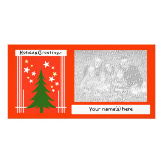 Custom Vintage Christmas Holiday Photo Card