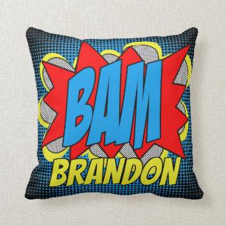 Custom Vintage Comic Book Pop Art Style BAM! Cushion