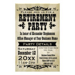 Custom Vintage Country Retirement Party Invitation