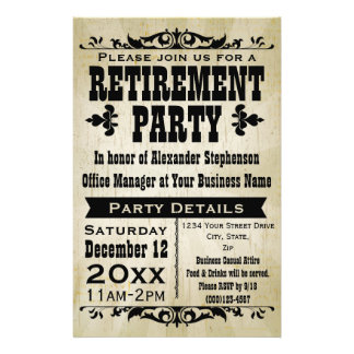 Custom Vintage Country Retirement Party Invitation 14 Cm X 21.5 Cm Flyer