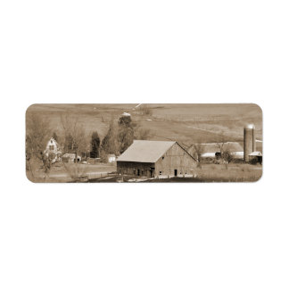 Custom Vintage Farm Return Address Label