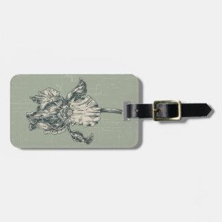 Custom Vintage Iris Flower Luggage Tag