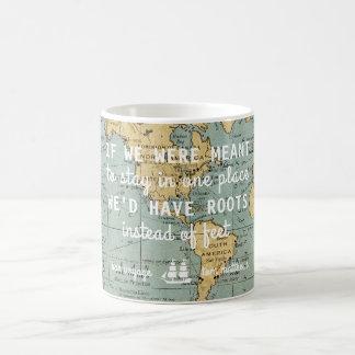 Custom Vintage Map Travel Quotes | Mug