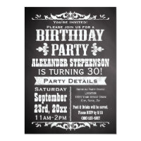 Cool birthday invitations announcements zazzle custom vintage slate chalkboard birthday party filmwisefo Choice Image
