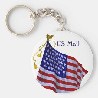 Custom Vintage US Flag Keychain