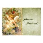 Custom Vintage Victorian Christmas Angel Holiday 13 Cm X 18 Cm Invitation Card