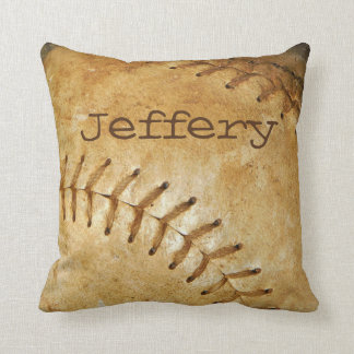 Custom vintage White Baseball white stitching Cushion