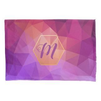 Custom violet and purple graphic pattern pillowcase