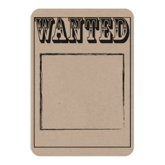 Custom Wanted Poster Card