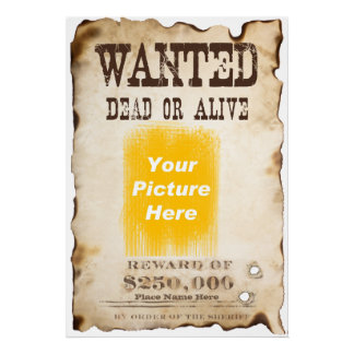 Custom Wanted Poster on Archival Paper