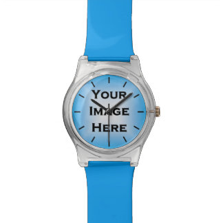 Custom Watch With Black Ticks White Edged 1px