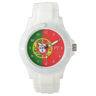 Custom watch with Portuguese flag of Portugal