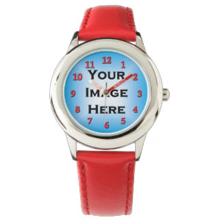 Custom Watch With Red Numbers Sheer 20%