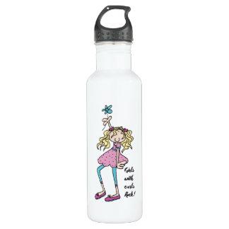 Custom Water Bottle (24 oz), White 710 Ml Water Bottle