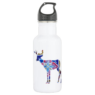 Custom Water Bottle (532 ml) Mandala Deer