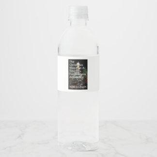 """Custom Water Bottle Label (8"""" x 2.125"""")"""