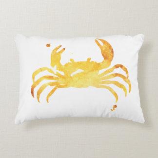 Custom watercolor crab decorative cushion
