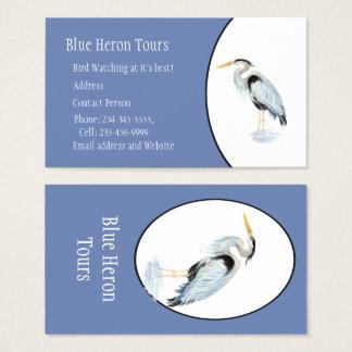 Custom Watercolor Great Blue Heron Bird Business Card