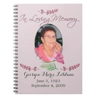 Custom Watercolor Lavender Memorial Guest book