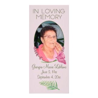 Custom Watercolor Lavender Memorial Keepsakes Customized Rack Card