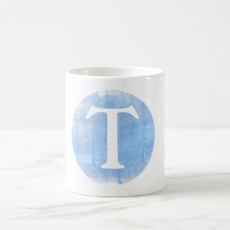 Custom Watercolor Monogram Initial Mug