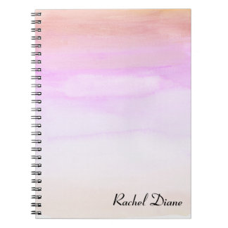 Custom Watercolor Name Notebook