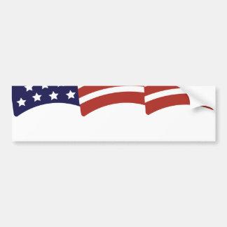 Custom  Waving Flag Bumper Sticker Template
