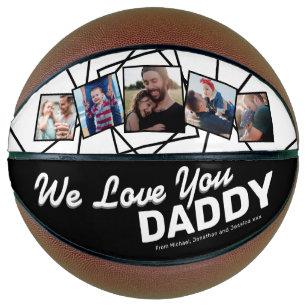 Custom We Love You Daddy Photo Basketball