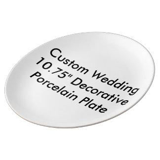 "Custom Wedding 10.75"" Decorative  Porcelain Plate Porcelain Plates"