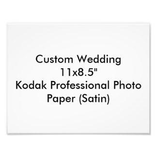 """Custom Wedding 11x8.5"""" Kodak Pro Photo Paper Satin"""