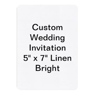 Custom Wedding 13 Cm X 18 Cm Invitation Card