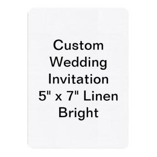 Custom Wedding 13 Cm X 18 Cm Invitation Card