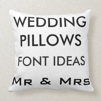 "Custom Wedding 20"" Cotton Throw Pillow GOTHIC MED."