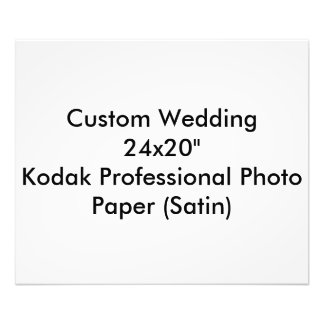 "Custom Wedding 24x20"" Kodak Pro Photo Paper"